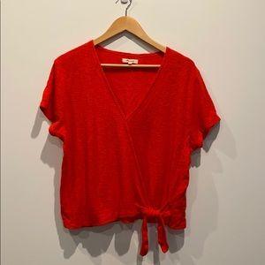 NEW Madewell Women's Faux Wrap Shirt